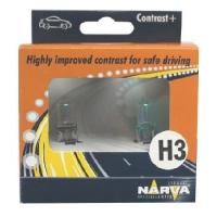 Галогенные автолампы Narva H3 Contrast + 3000K 48521 12V 55W