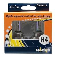 Галогенные автолампы Narva H4 Contrast + 3000K 48583 12V 60/55W