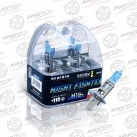 Галогенные автолампы Avantech H1 Night Fighter 5000K 12V 55W (120W) - 2 шт.