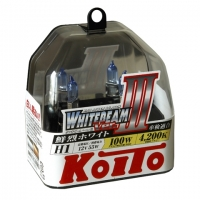 Галогенные лампы Koito Whitebeam III H1 4200K 12V 55W (100W) - 2 шт.