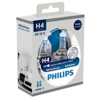 Галогенные лампы Philips X-treme Vision H4 4300K 12V 55W + w5w 12V 5W - 2шт.