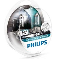 Галогенные лампы Philips X-treme Vision H7 3350K 12V 55W - 2шт.