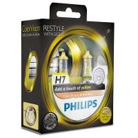 Галогенные лампы Philips Color Vision Yellow H7 3350K 12V 55W - 2шт.