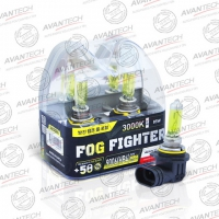 Галогенные автолампы Avantech HB4 Fog Fighter 3000K 12V 55W (85W) - 2 шт.