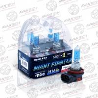 Галогенные автолампы Avantech H16 Night Fighter 5000K 12V 19W (30W) - 2 шт.