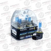 Галогенные автолампы Avantech HB4 Night Fighter 5000K 12V 55W (110W) - 2 шт.