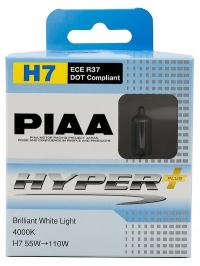 Галогенные лампы Piaa Hyper Plus H7 4000K 12V 55W (100W) - 2 шт.
