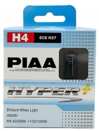 Галогенные лампы Piaa Hyper Plus H4 4000K 12V 60/55W (110/100W) - 2 шт.