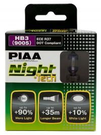 Галогенные лампы Piaa Night Tech HB3 3600K 12V 55W (140W) - 2 шт.