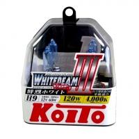 Галогенные лампы Koito Whitebeam H9 4000K 12V 65W (120W) - 2 шт.