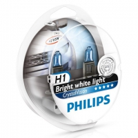 Галогенные лампы Philips Crystal Vision H1 4300K 12V 55W + w5w 12V 5W - 2шт.