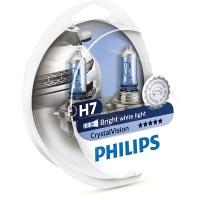 Галогенные лампы Philips Crystal Vision H7 4300K 12V 55W - 2шт.