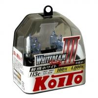 Лампы галогенные Koito Whitebeam H3c 4000K 12V 55W (100W) - 2 шт.