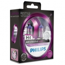Галогенные лампы Philips Color Vision Purple H4 3350K 12V 55W - 2шт.